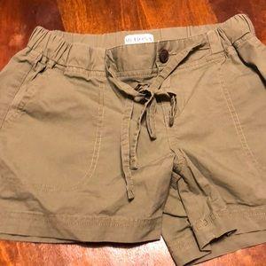 Merona lightweight green drawstring shorts XS